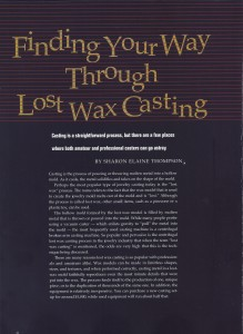 Lost Wax Casting LJ Feb 2001