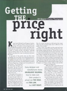 Getting Price Right AJM cover