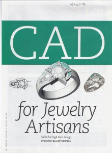 CAD for Jewelry Artisans cover