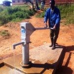 Special events at retailers such as Trios Studio, in Lake Oswego, Oregon, help raise funds for community projects, such as this well to provide fresh water to Ntcheu, Malawi where the Chimwadzulu mine is located. Photo courtesy Columbia Gem House.