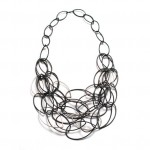 Maya Necklace. Megan Auman. Blackened Steel and Sterling.